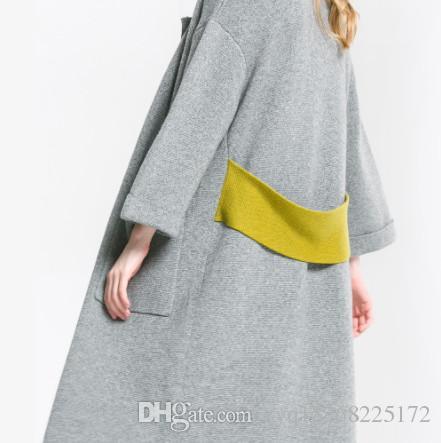 Dans le long paragraphe cardigan jacket 2019 automne et hiver chandail tricoté haut de gamme des femmes de tempérament était mince et belle