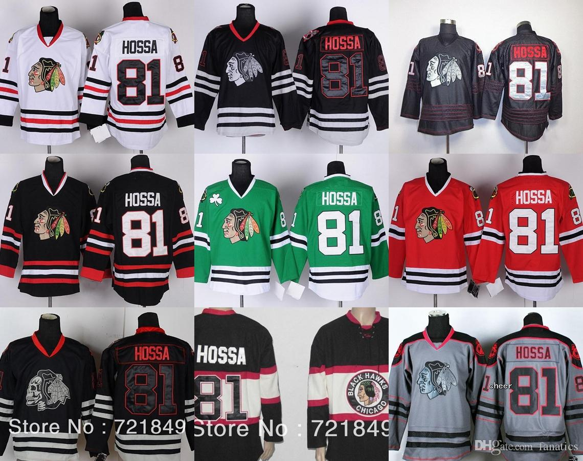 sports shoes 31a29 5a0e2 Cheap Chicago Blackhawks Hockey Jerseys #81 Marian Hossa Jersey with 2013  Stanley Cup Champipon Patch Free shipping!!