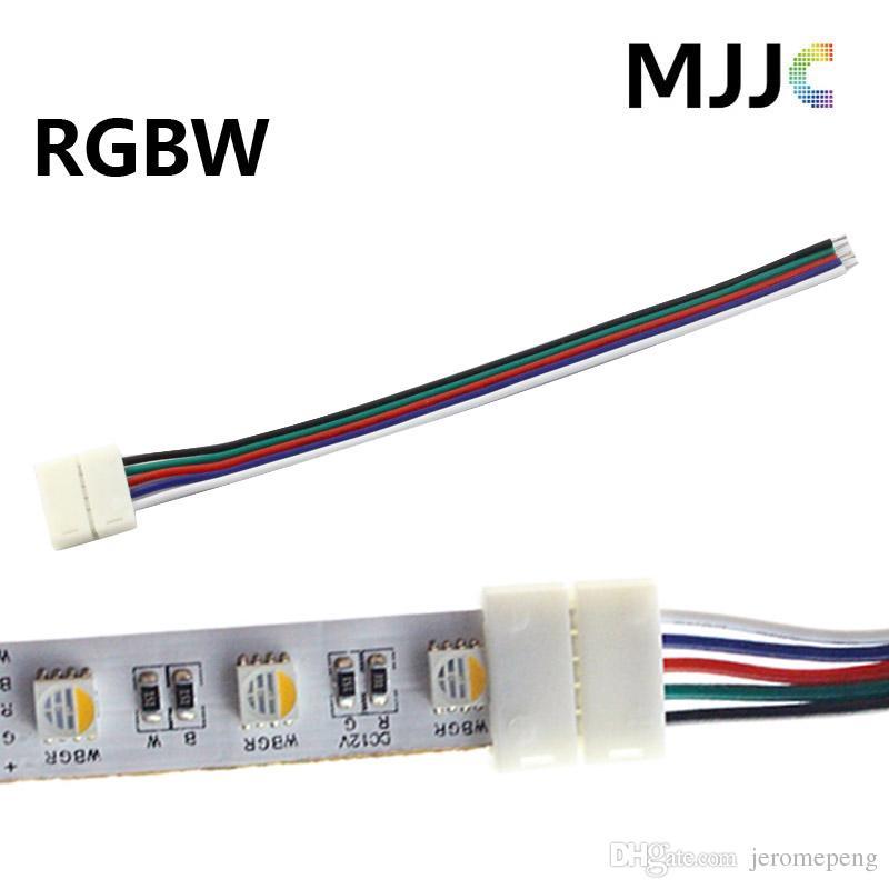 Solderless 12mm rgbw rgbww led strip light connectors 12v 24v 5pin see larger image aloadofball Image collections