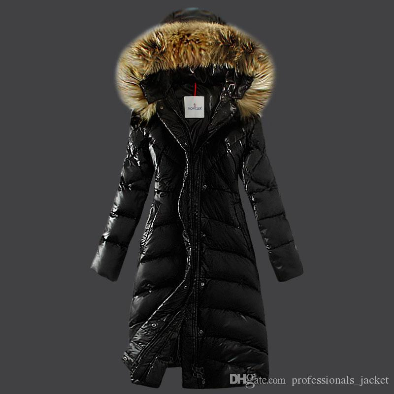 2017 Sell Like Hot Cakes Woman Winter Monclercoat Down Jacket Real Fur Coat #8 Black Brown Red Khaki Fashion Jackets Denim Jacket With Fur From ...