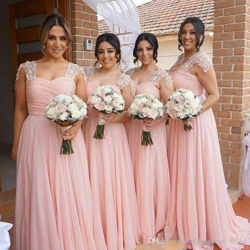 Moderno Damas De Honor Se Visten Blush Adorno - Ideas de Estilos de ...