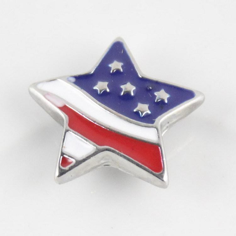 18MM 누사 미국 국기 누사 교환 할 수있는 스냅 버튼 쥬얼리 액세서리 국기 스타일 진저 스냅 보석 DIY 누 버튼을 청크