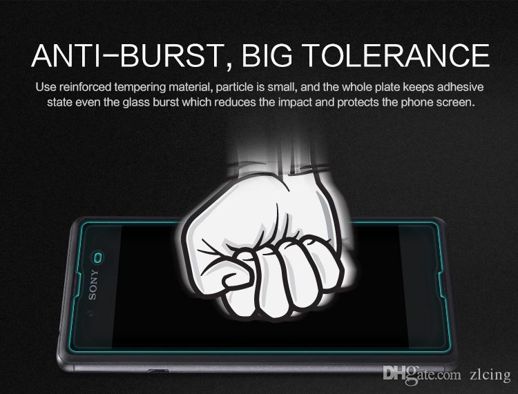 9H 0.26mm HD Премиум закаленное стекло для Sony Xperia Z1 / Z1Compact / Z2 / Z3 / Z3Compact / Z4 / Z4Compact / E3 / E4 Aqua Взрывозащищенный экран 300шт / лот