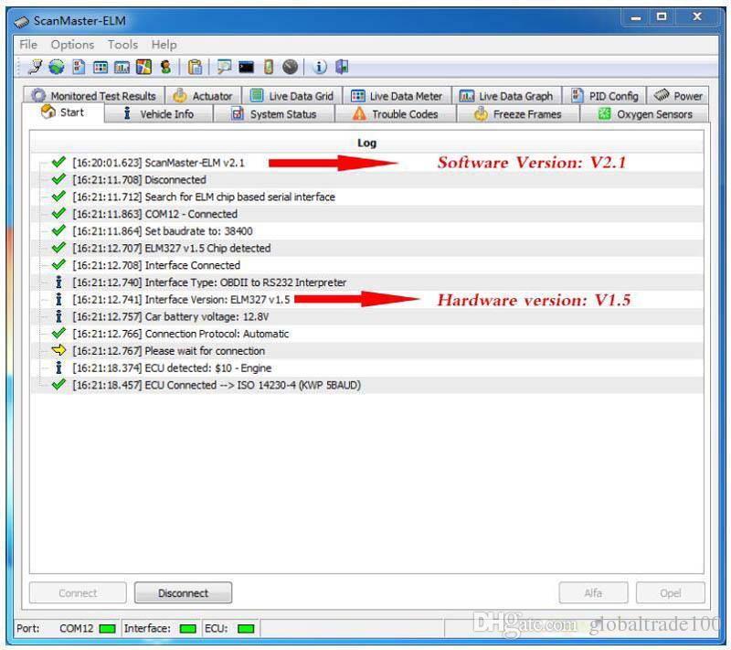 Mini ELM327 Bluetooth OBD2 V1.5 Elm 327 V 1.5 OBD 2 Auto Diagnostic-Tool Scanner Elm-327 OBDII Adattatore Auto Strumento diagnostico