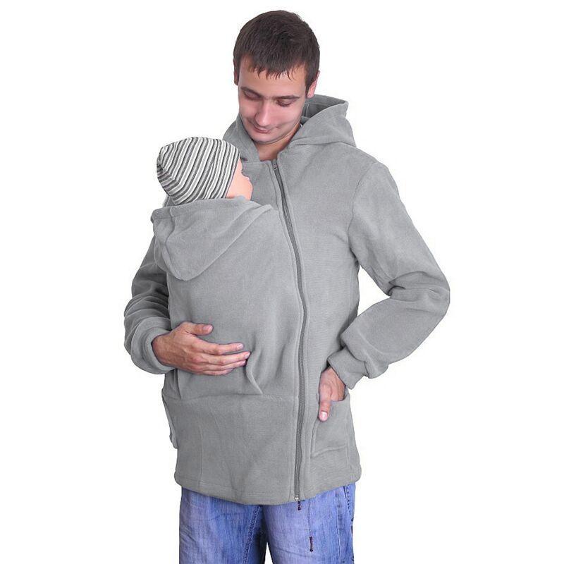 Sweat à capuche pour bébé Automne Automne Zip Up Maternité Kangourou Pull À Capuche Pull 2 En 1 Porte-Bébé C2919