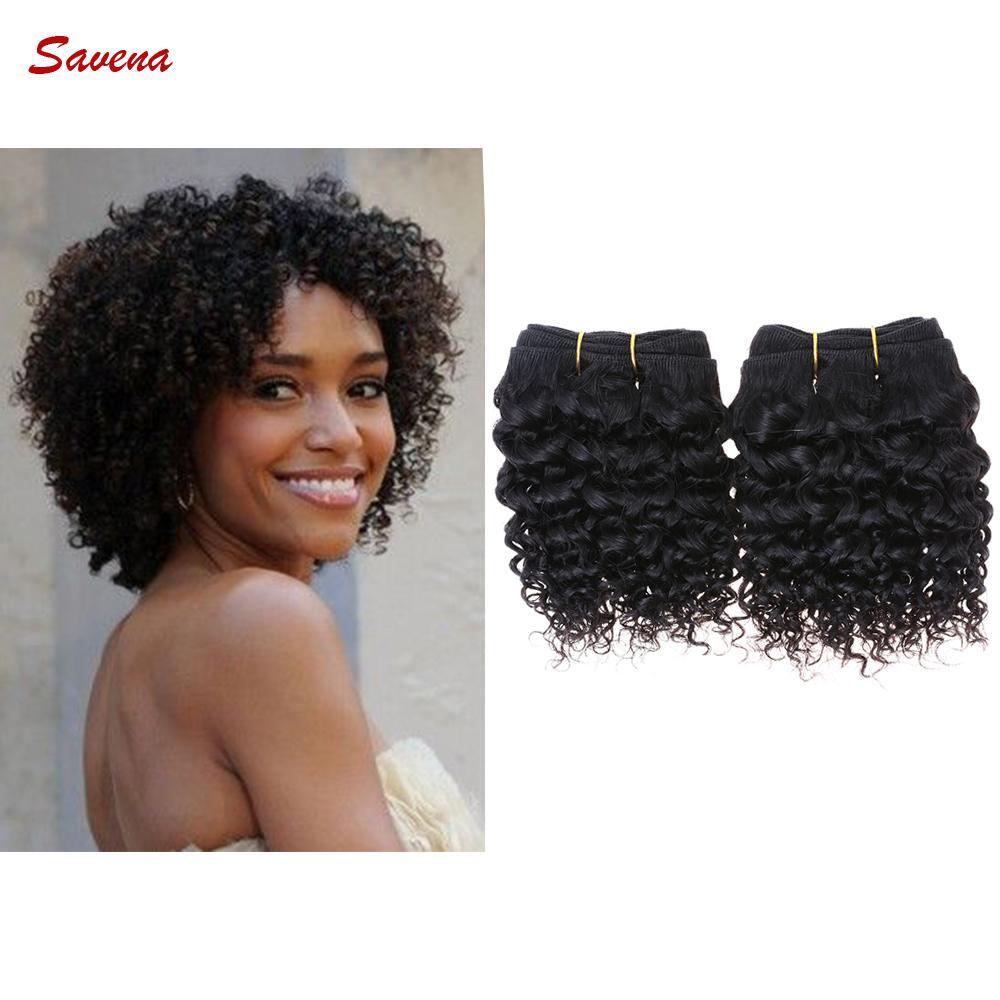 8 Inch Brazilian Virgin Hair Kinky Curly Human Hair Extension ...