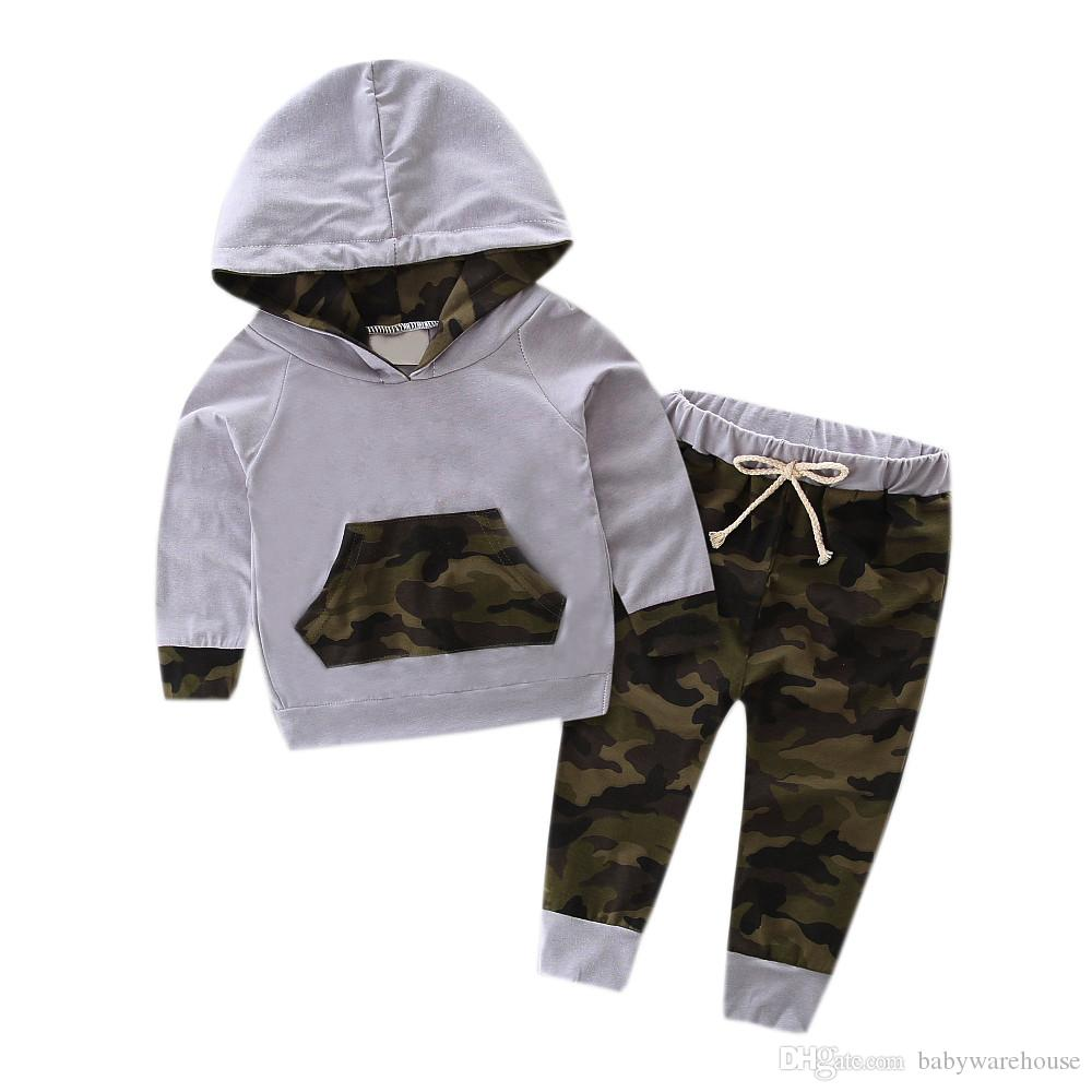 9dd753a9e 2019 Autumn Newborn Set Infant Baby Clothes Set Camouflage Hooded Tops + Pants  Boys Outfits Kids Boys Clothing Sets Baby Boy Tracksuit From Babywarehouse,  ...