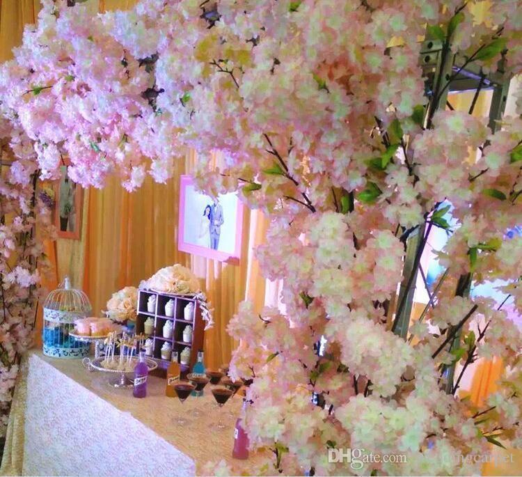 2018 1 Meter Long Artificial Simulation Cherry Blossom Flower ...