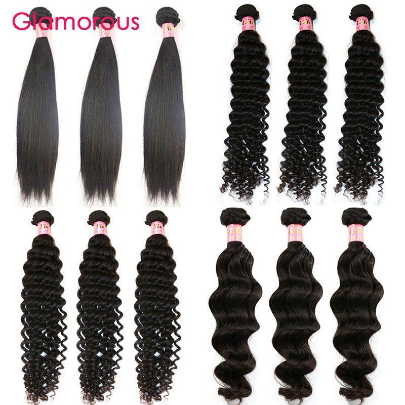 Glamorous Unprocessed Human Hair Weaves Wholesale Virgin Brazilian
