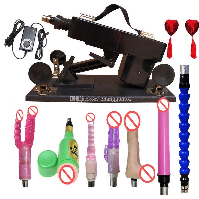 Version mise à jour Love Sex Machine avec accessoires 6 cm Machine de masturbation rétractable Vitesses réglables Machines automatiques Sex Toys