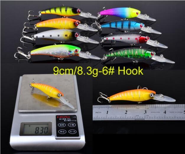 16 pçs / set Minnow Iscas De Pesca Misturados 2 Modelos 16 Cor Minnow Pesca Wobblers Crankbaits Mix Equipamento De Pesca