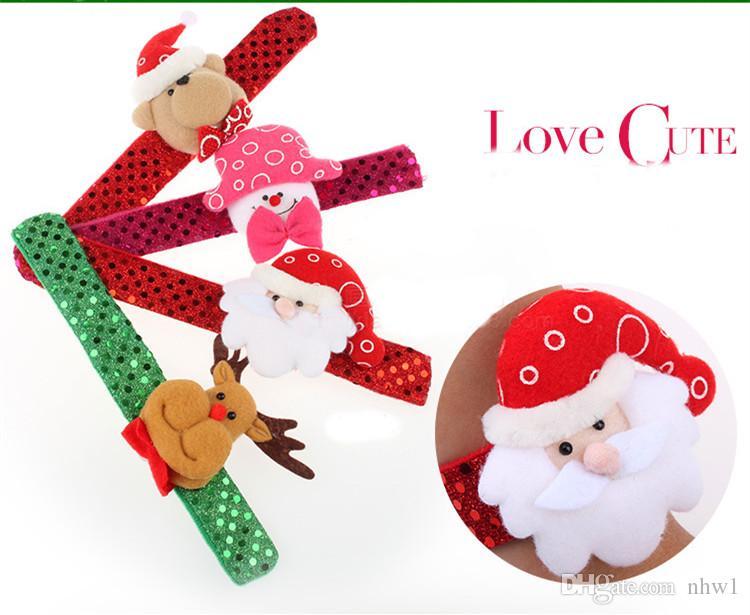 Mode De Noël Led Bracelet Poignet Cercle Clignotant Points Bracelets Lumière Jouets Enfants Cadeau De Noël Fournitures Décorations