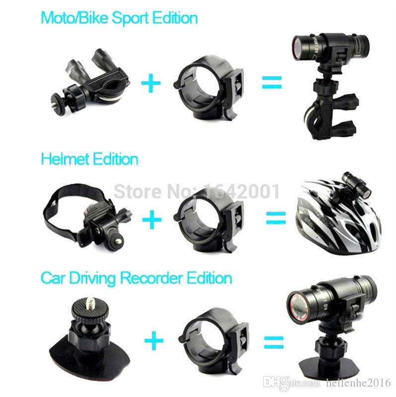 2016 손전등 스포츠 비디오 카메라 HD 1080P 방수 캠코더 DV 캠코더 미니 DV 캠코더 자동차 DVR 야외 자전거 헬멧