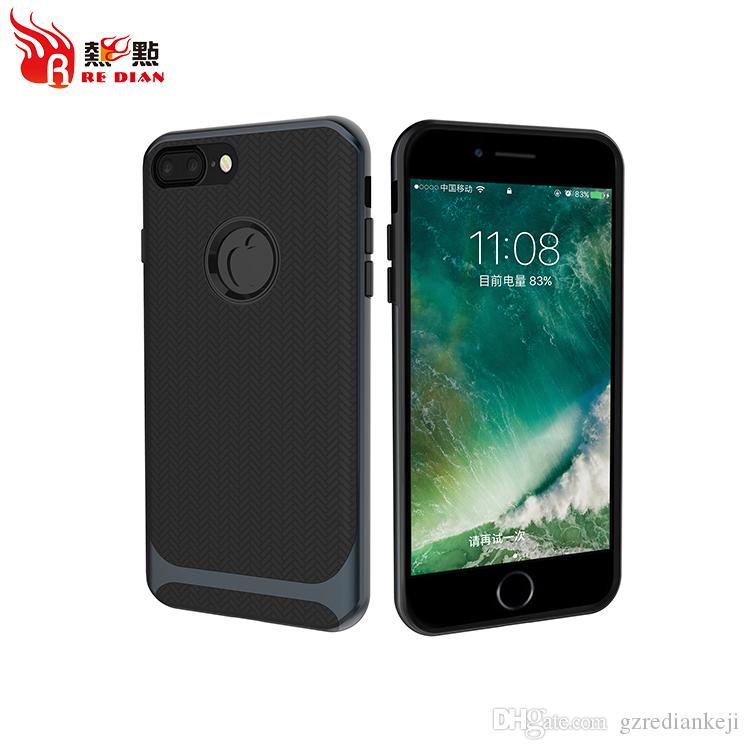 Hot Selling Product Univeral Wholesale Mobile Cell Phone Shockproof Bumper TPU PC Case For Iphone7 7P Phone Case For Iphone X Luxury Case