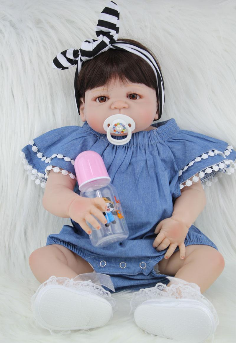 Npkcollection 55cm Full Silicone Body Reborn Baby Doll Toy Like Real ...