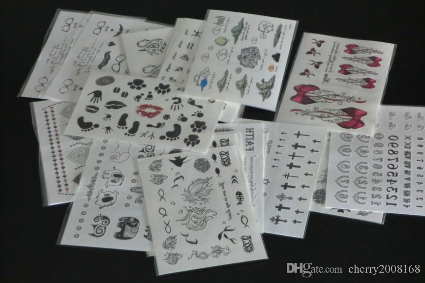Atacado 9.5 * 14.5 cmTemporary tatuagem adesivos - para Body art Pintura - projetos misturados Tatuagens Temporárias