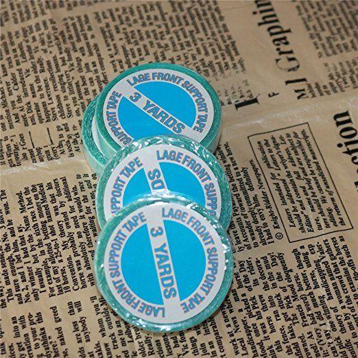 Extensiones de cabello de doble cara Walker Tape No Shine Bonding Replacement Blue Tape Pegamento