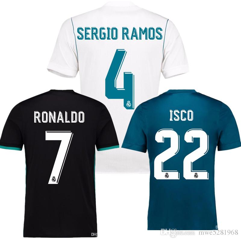 7c1e0b6e1c7 2019 2018 Champions League Player Version Soccer Jersey 2017 18 Real Madrid  Home Away 3rd Soccer Jerseys 17 18 Ronaldo ASENSIO Football Jeresys From ...