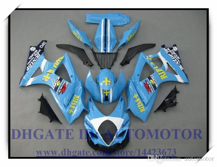 Iniezione 100% nuovissimo kit carena adatto SUZUKI GSXR1000 07 08 Suzuki GSX-R1000 2007 2008 GSXR1000 2007 2008 # Y3ON4 BLU