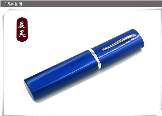 Trasporto libero all'ingrosso ---- 2015 nuovo alluminio metallo penna narghilè / bong, 14 * 3.4 cm, più acqua filtrata CH-007, colore casuale deliv
