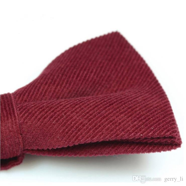 Mens Corduroy Bow Ties Pre-Tied Adjustable Bowtie Bow Ties Party Wedding Evening Party Accessories