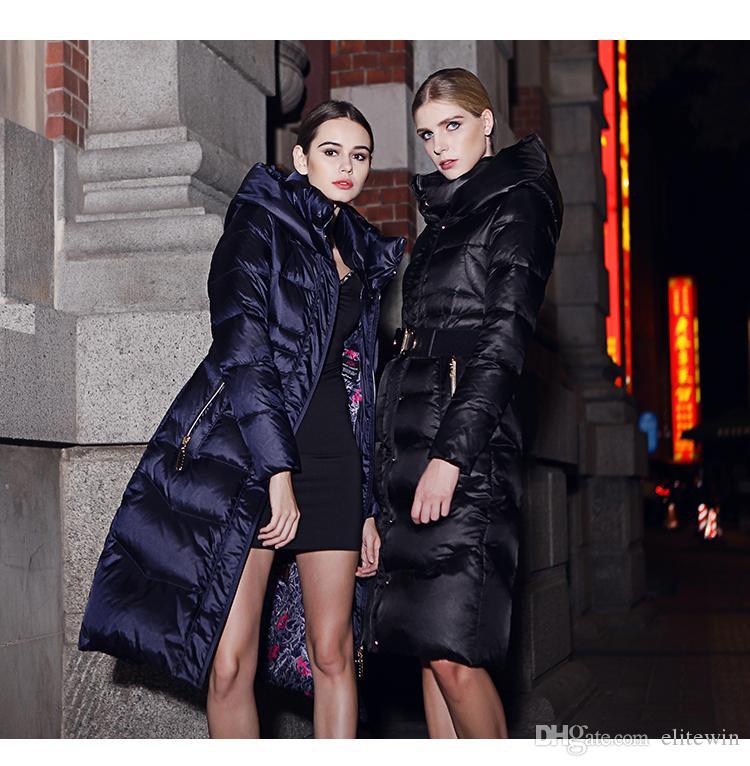 2017 European Exports Russia Plus Size Women Long Down Coat Winter ...