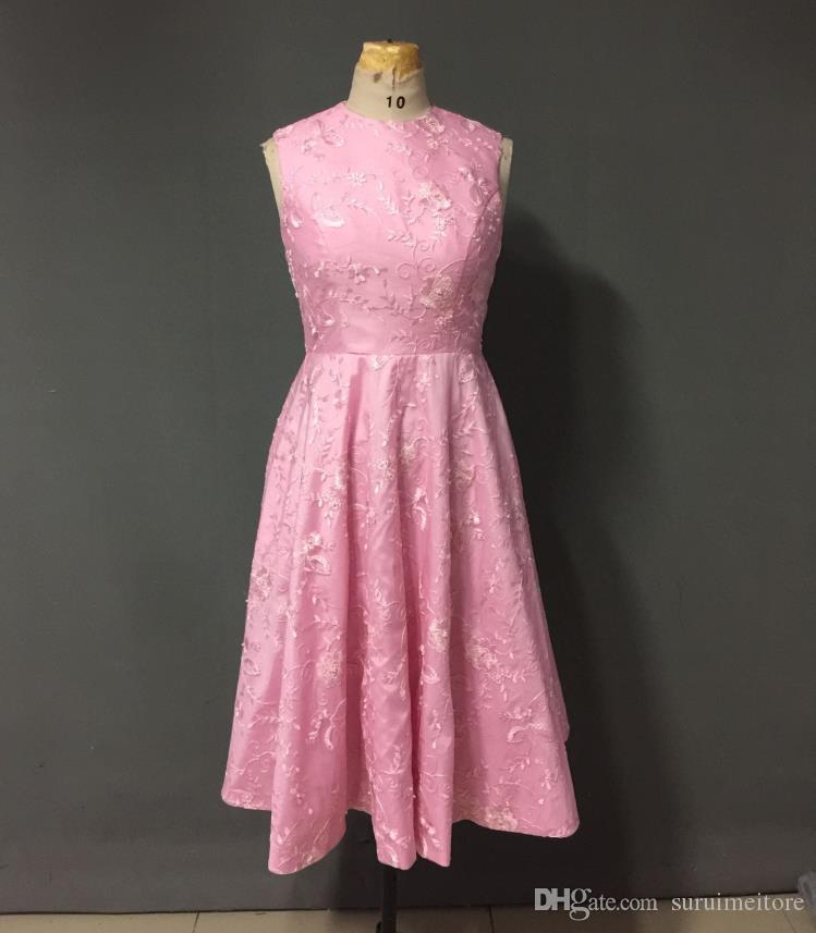 Pink Color Short Prom Dresses 2017 Real Sample Backless Hot Sale ...