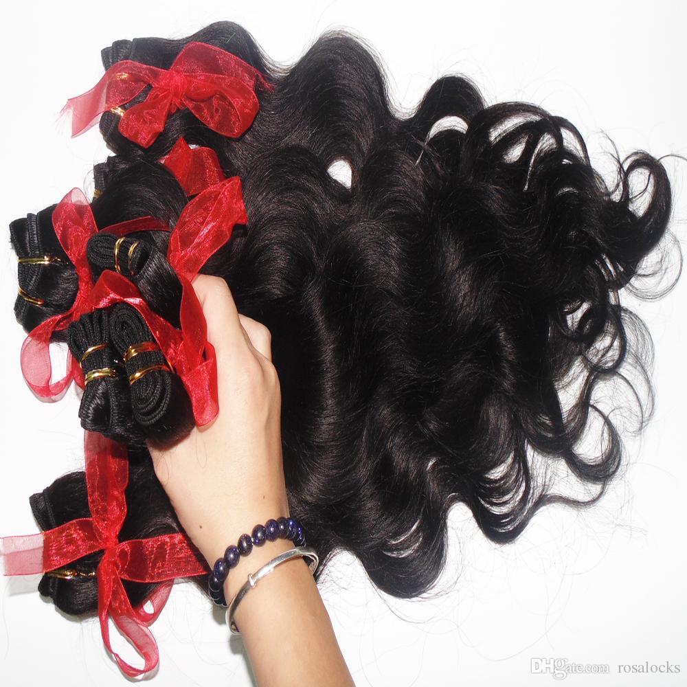 7А цена завод 100% НЕОБРАБОТАННАЯ чисто малазийские человеческие волосы пучков / 300g волна горячей продажи тела ткачества быстрой доставки