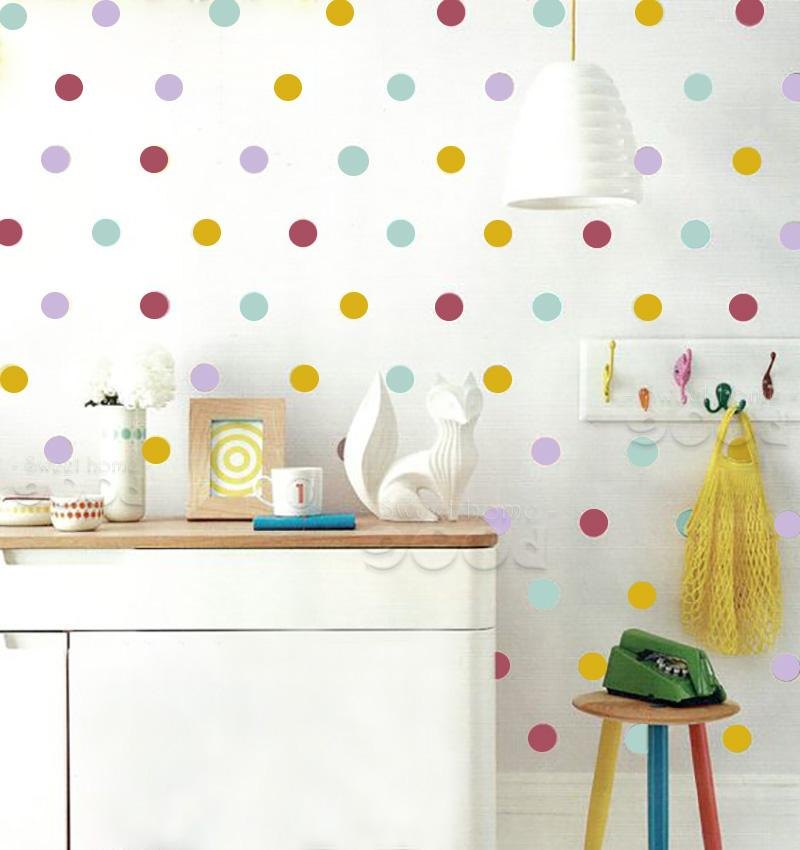 Mix Color Polka Dots Wall Sticker Wall Decal Removable Home