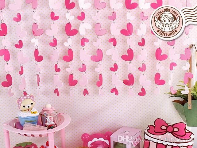 Door Curtain Cute Pink Hearts Pvc Plastic Curtain Home Decoration Decorative Curtain Christmas Decorations New Year Decor Natal Metal Wall Decor Modern ... & Door Curtain Cute Pink Hearts Pvc Plastic Curtain Home Decoration ...