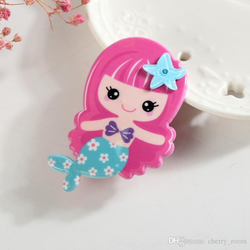 Hübsche Geschenke Meerjungfrau Haarspange Schönheit Prinzessin Baby Haarspange Blondes Mädchen Kleinkind Haarnadel Neuheit Cartoon Mädchen Haarklemmgriffe A7400