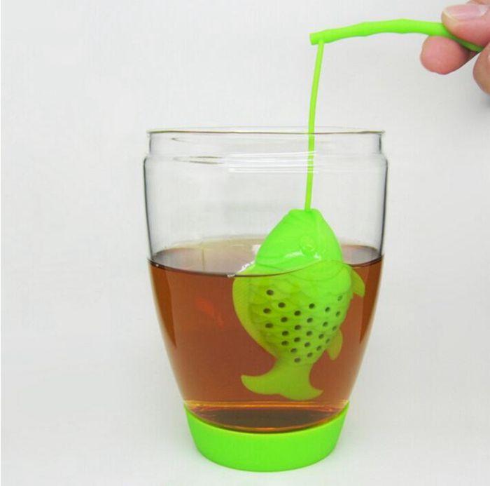 Filtri a forma di pesce in silicone tè in silicone infusore tè spezie infusore filtro a base di erbe bustine di tè creativo i YW206