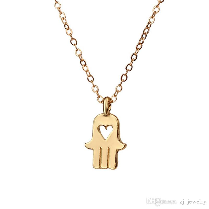w pendant saphire yellow gold diamond hamsa necklace mini