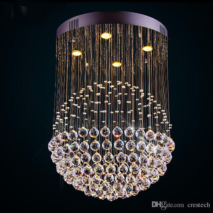 New Modern Led K9 Ball Crystal Chandeliers Glass Chandelier Light Lights Clear Ceiling Industrial