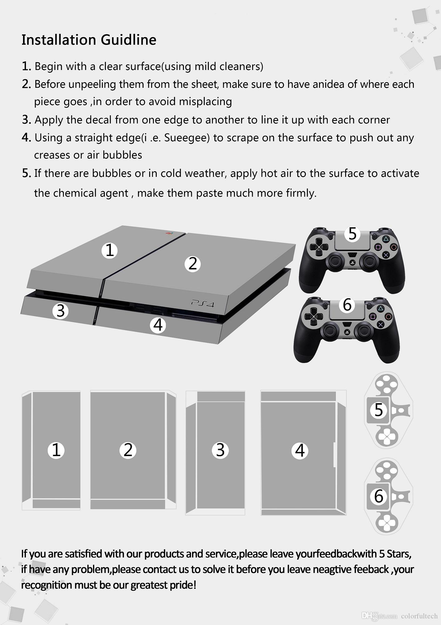Assassin's Creed PS4 Vinyl Protective Decal Cover Skin Set for Console and DualShock 4 Controllers - PlayStation 4