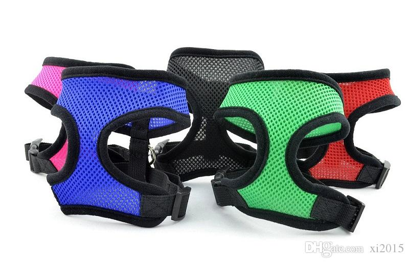 Pet Harness for Dog & Cat Soft Mesh Walk Collar Safety Strap Vest 5 sizes wen4257
