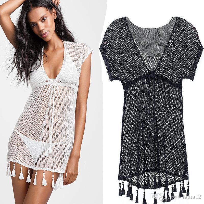 Sexy Bikini Frauen Durchsichtig Gestrickte Sommer Kleid Großhandel yvP8mnON0w