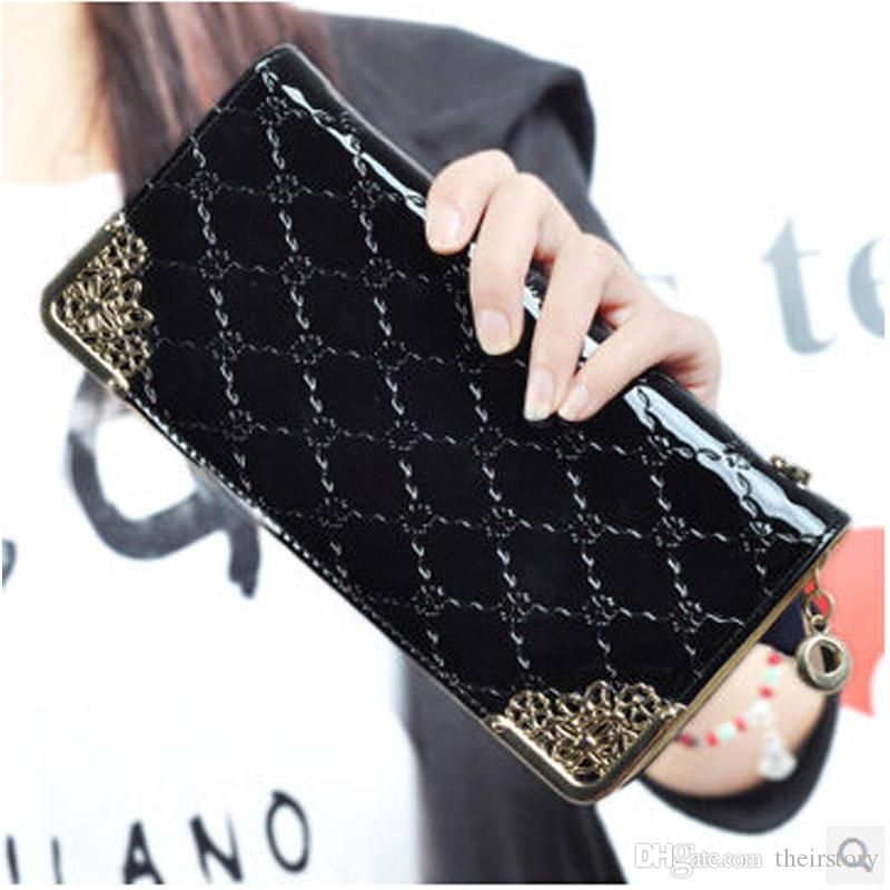Long Wallet Stereoscopic Square Women Wallets Embossed Wallet Female Clutch Ladies Zipper Purses Carteira Feminia Gift Card Holder