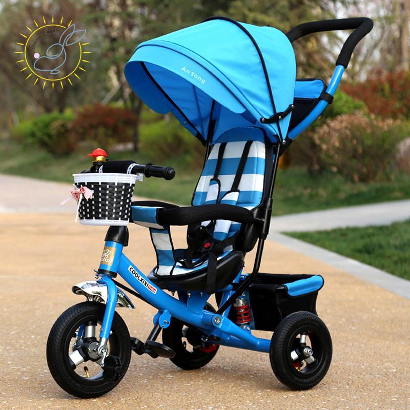 e7d0567364 Compre Atacado CoolXX Crianças Triciclo Dobrável Carrinho De Bebê Da Bicicleta  Do Bebê 1 3 5 Anos De Idade Bicicleta Criança Carrinho De Bebê De Xunqian,  ...
