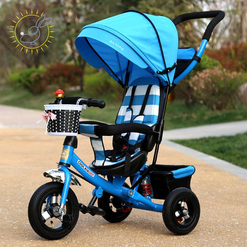 e721afaee75 2019 Wholesale CoolXX Children Tricycle Folding Baby Carriage Baby Bike 1 3  5 Year Old Child Bike Baby Trolley From Xunqian, $264.14 | DHgate.Com