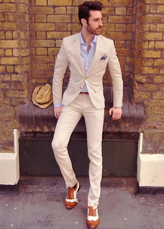 Grooms Mens Suits Two Piece Suit Men Wedding Male Tuxedo Custom For Formal Trousers Prom From