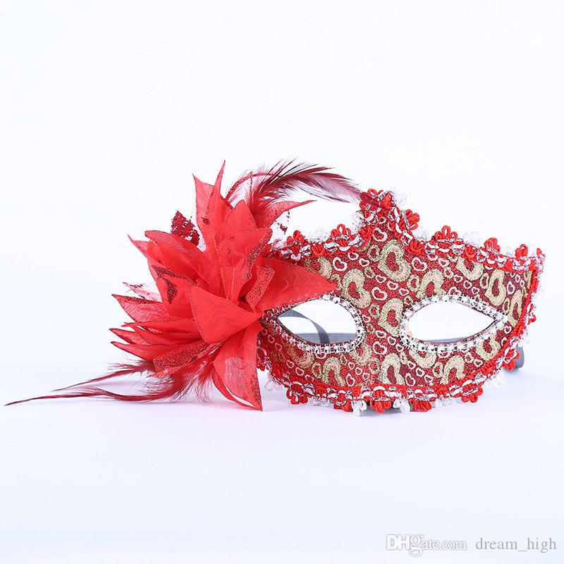 Sexy Frauen Spitze Maske Venedig Venezianische Maskerade Fancy Kleid Ball Maske Mode Frau Karneval Halbgesicht Kostüm Party Masken Halloween Dekor