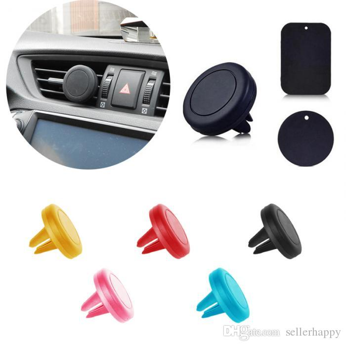 Car Mount Air Vent Magnetic Universal Mobile Phone Holder For Samsung Galaxy S7 S6 Iphone Car Holder With Retail Package Colorful