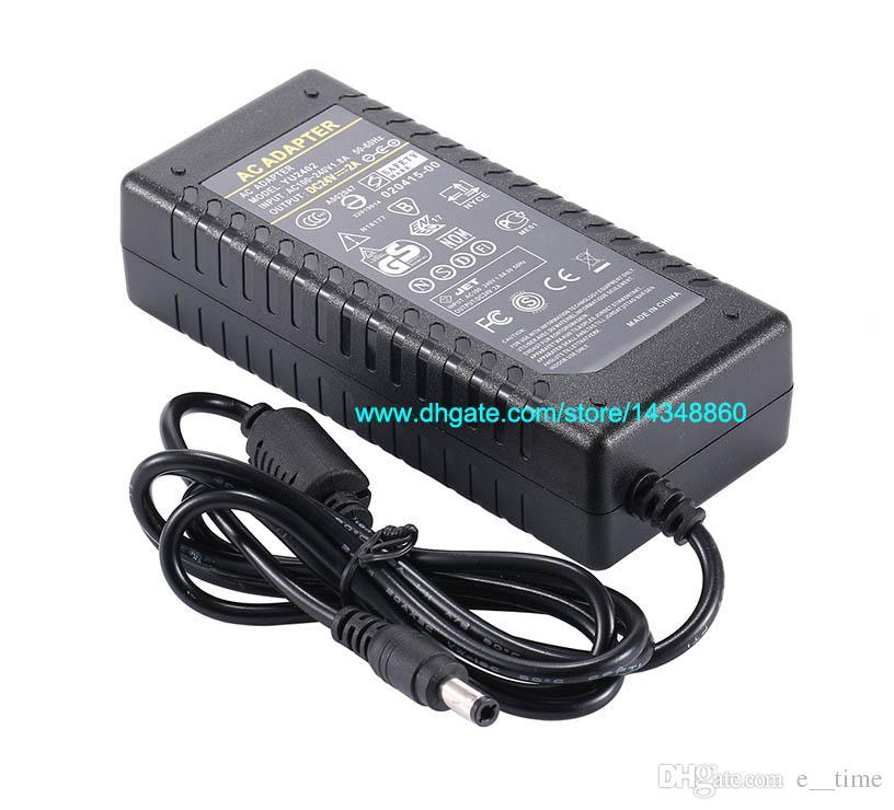 24 V 2A AC 100-240 V para DC 48 W Adaptador Para 3528 5050 Tira CONDUZIDA EUA UE AU Plug Adapter com IC Chip