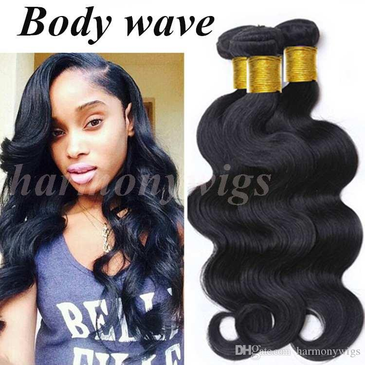 Brazilian Hair wefts Virgin Human Hair Weaves Bundles 8-34inch Unprocessed Peruvian Indian Malaysian dyeable hair extensions