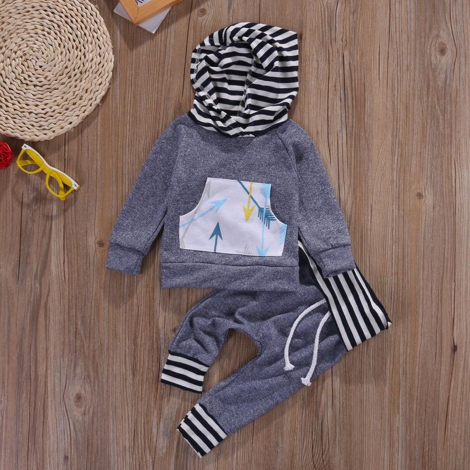 19f9d57ec Wholesale- Newborn Baby Boy Girl Clothes Striped Hoodie Tops T-shirt ...