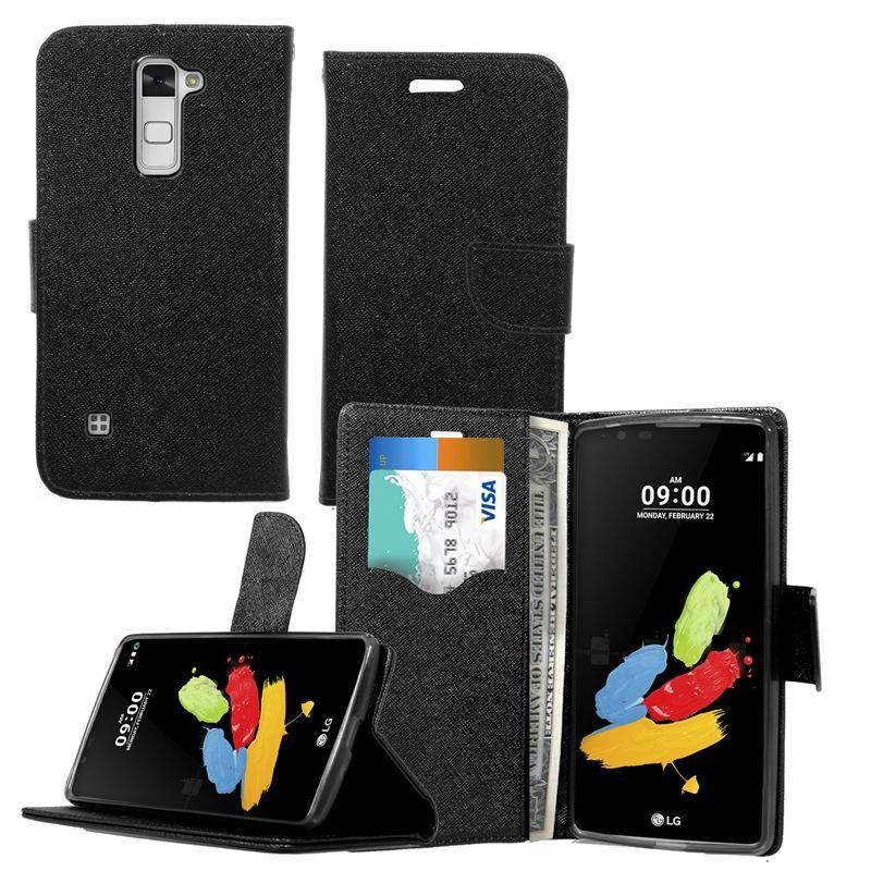 Luxury PU Leather Wallet Case Shockproof Cell Phone Cases With Card Slot For LG Stylus 2/LS775 fashion case