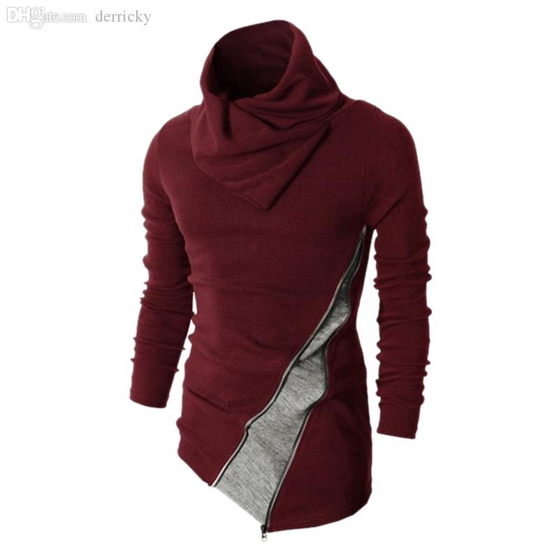 Wholesale Korean Style Neue angekommene Männer Rollkragenpullover Pullover Mode Männer Oberbekleidung Kleidung Pullover Männer ZQ38