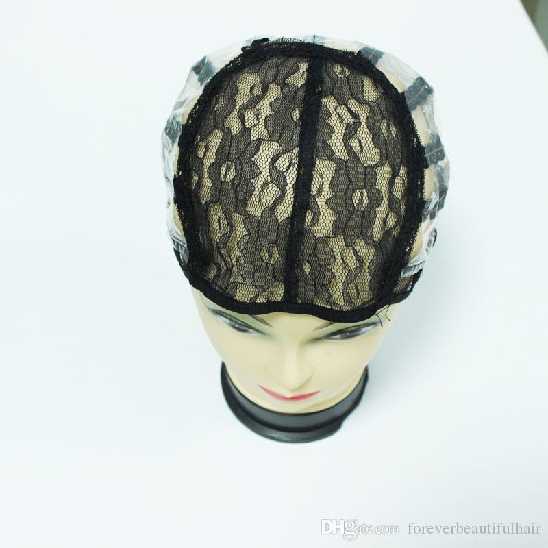 DHL Fast Shipping Wig Cap for Making Wigs Adjustable Strap Machine made Weaving Cap Foundation Inside Inner Hair Extension Weft Weave
