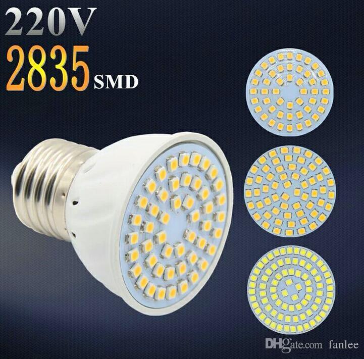 Preço de fábrica LED Spotlight GU10 E27 MR16 LED Lâmpada 4W AC 220V 3528SMD 48 LEDs Branco / Quente Branco LED Iluminação